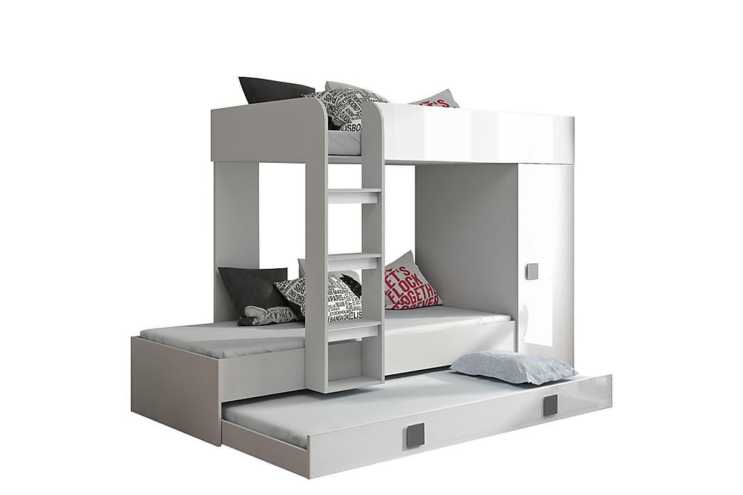 Säng Toledo 94x204 cm - Vit/Högglans - Möbler - Sängar - Sängram & sängstomme