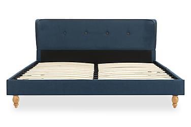 Sängram blå tyg 140x200 cm