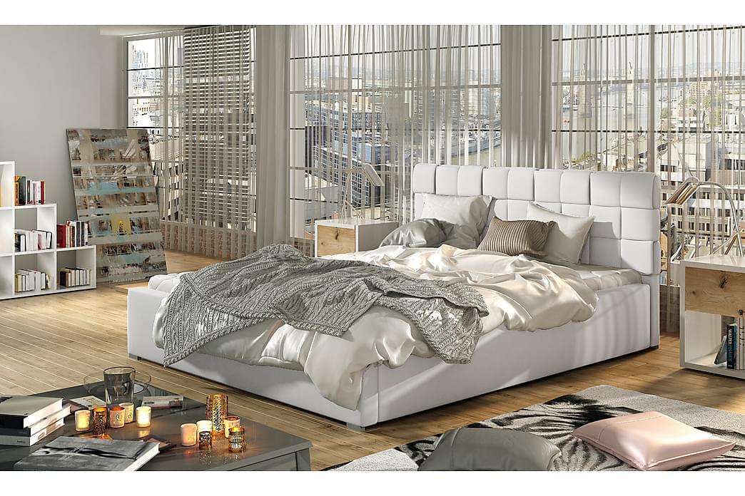 Sängram Brandee 140x200 cm - Vit - Möbler - Sängar - Sängram & sängstomme