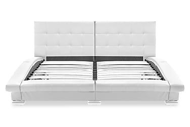Sängram konstläder vit 200x160 cm