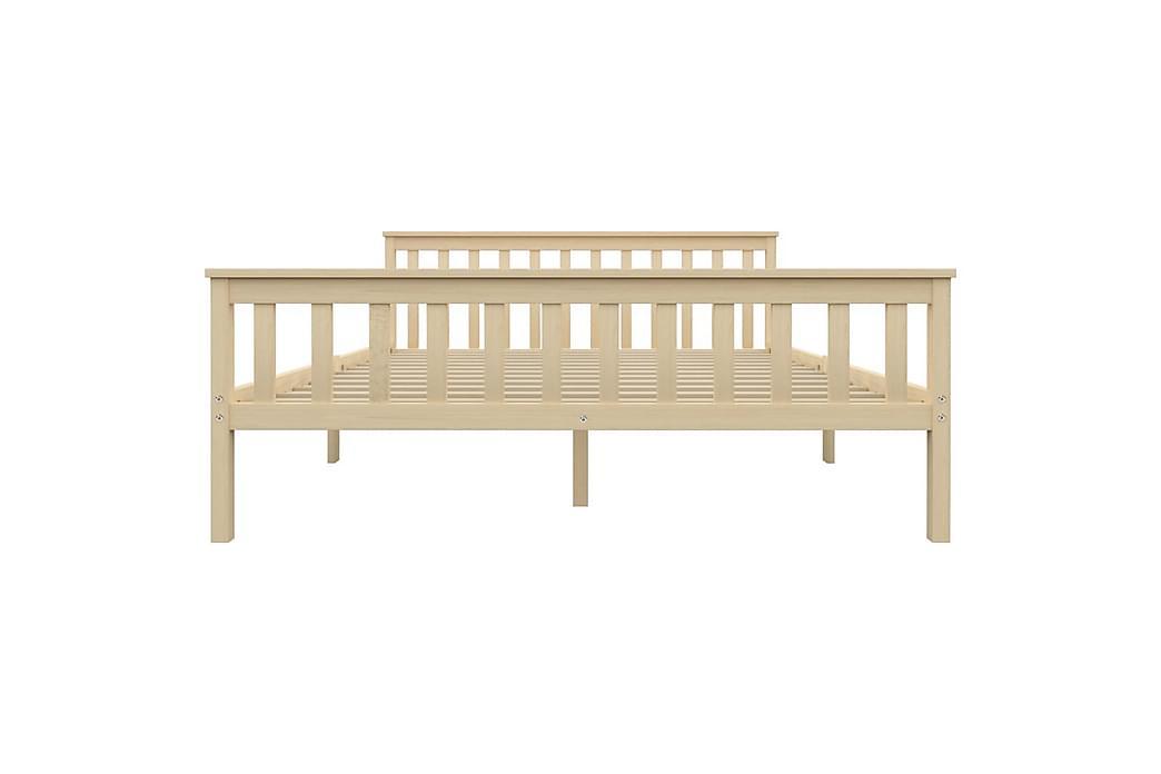 Sängram ljust trä massiv furu 160x200 cm - Brun - Möbler - Sängar - Sängram & sängstomme