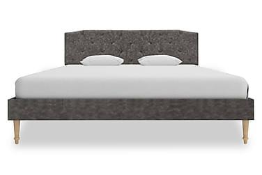 Sängram mörkgrå tyg 140x200 cm
