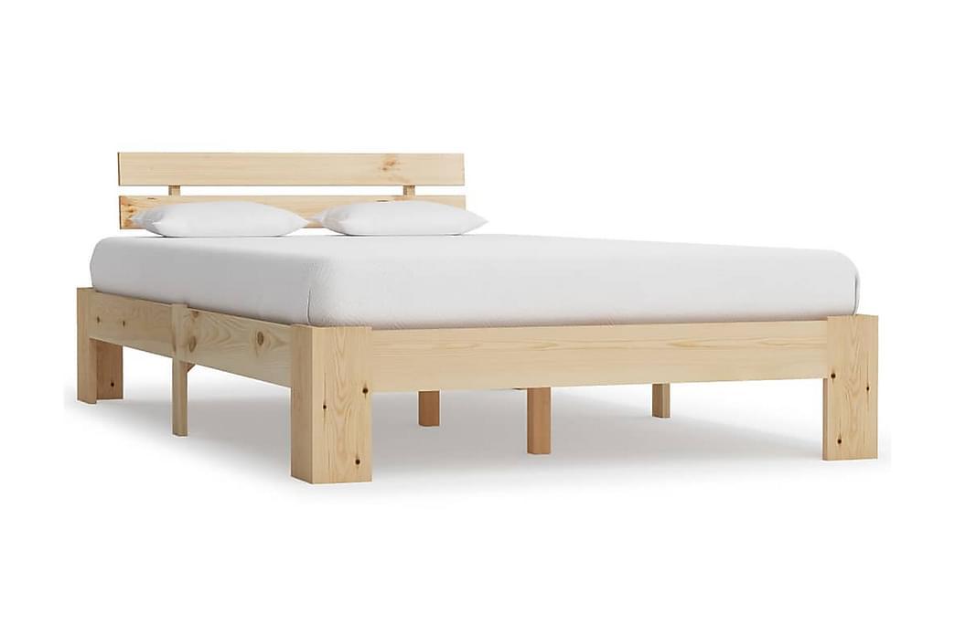 Sängram massiv furu 120x200 cm - Brun - Möbler - Sängar - Sängram & sängstomme