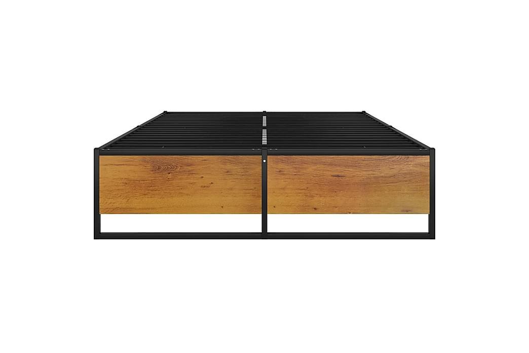 Sängram svart metall 120x200 cm - Svart - Möbler - Sängar - Sängram & sängstomme