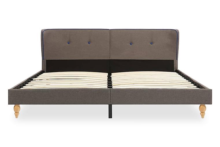 Sängram taupe tyg 180x200 cm - Brun - Möbler - Sängar - Sängram & sängstomme