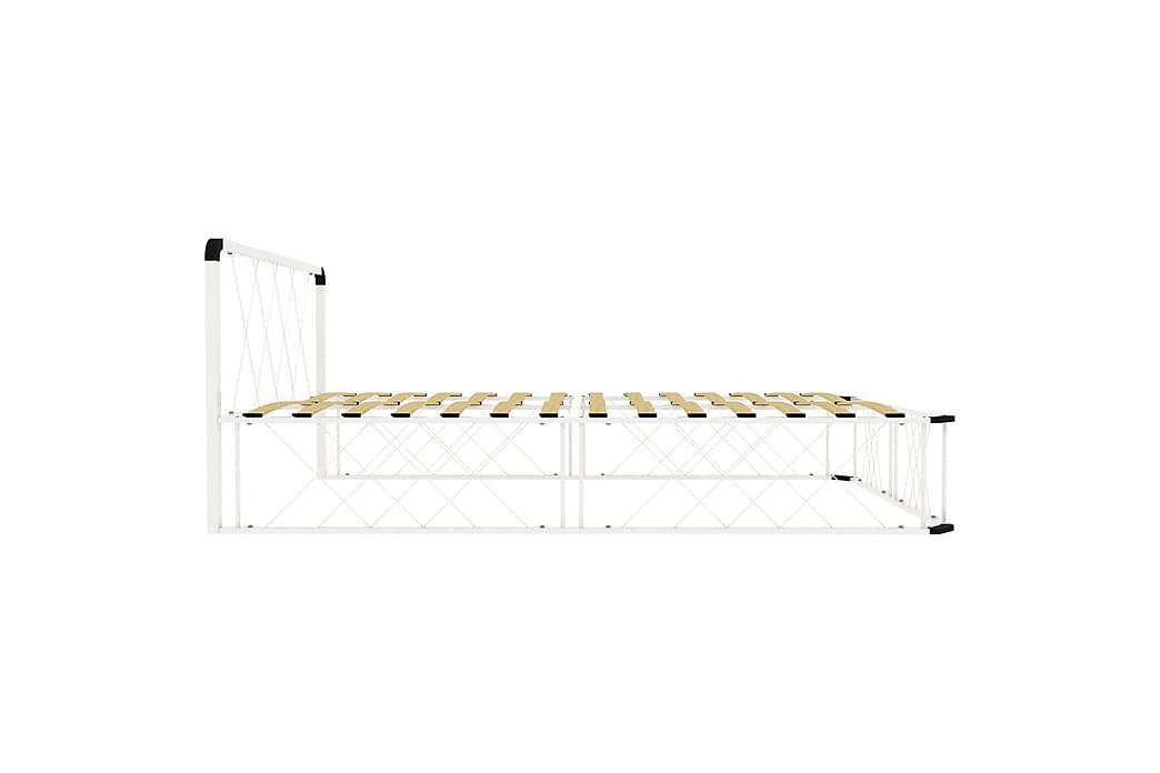 Sängram vit metall 120x200 cm - Vit - Möbler - Sängar - Sängram & sängstomme