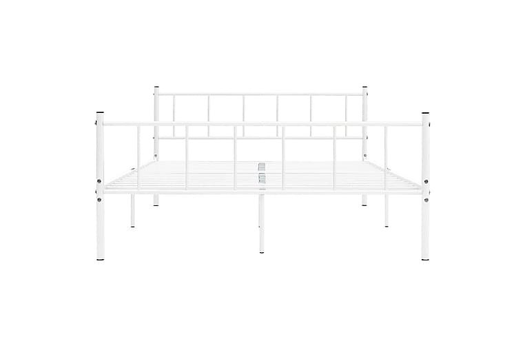Sängram vit metall 200x200 cm - Vit - Möbler - Sängar - Sängram & sängstomme