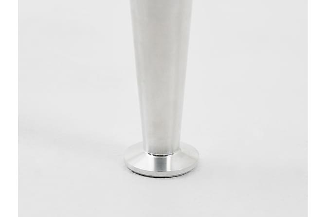 Sängben Smal 12 cm 4-pack Aluminium - Grå|Vit - Möbler - Sängar - Sängtillbehör