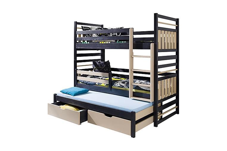 Säng Hipolit 97x210 cm - Wenge - Möbler - Sängar - Våningssängar