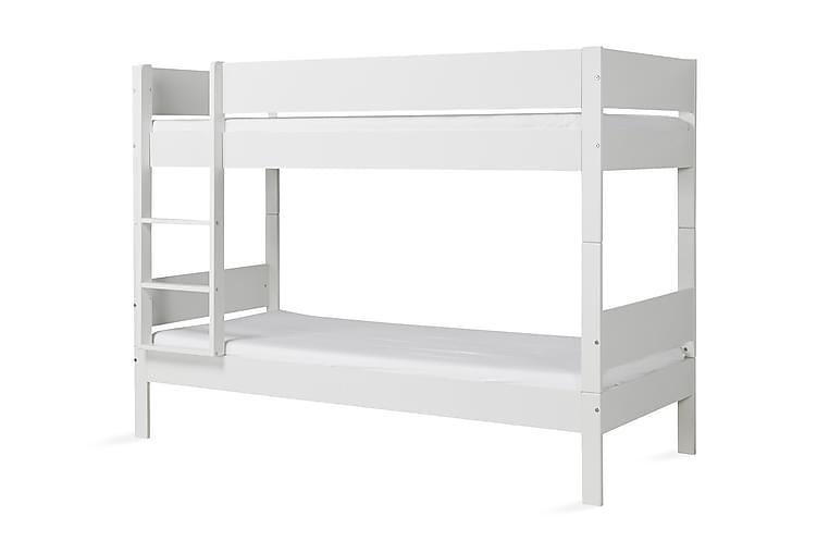 Våningssäng Yevette 90x206 cm Vit - Huxie - Möbler - Sängar - Våningssängar