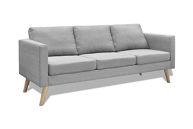 Soffa 3-sits i tyg ljusgrå - Grå - Möbler - Soffor - 2-4-sits-soffor