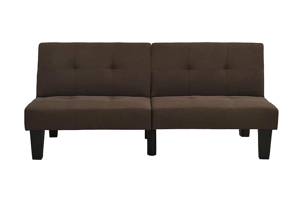 Bäddsoffa mörkbrun tyg - Brun - Möbler - Soffor - Bäddsoffor