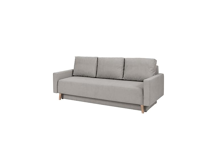 Bäddsoffa Oviedo 215x95x86 cm - lila/grå - Möbler - Soffor - Bäddsoffor