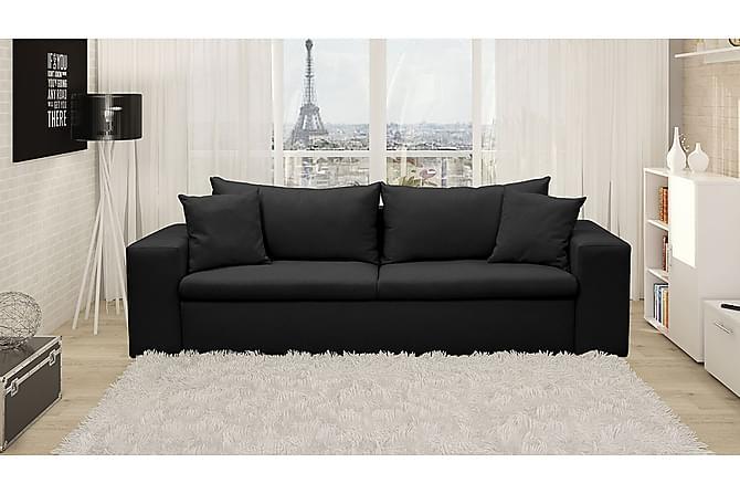 Bäddsoffa Paris 250x90x85 cm - Svart - Möbler - Soffor - Bäddsoffor