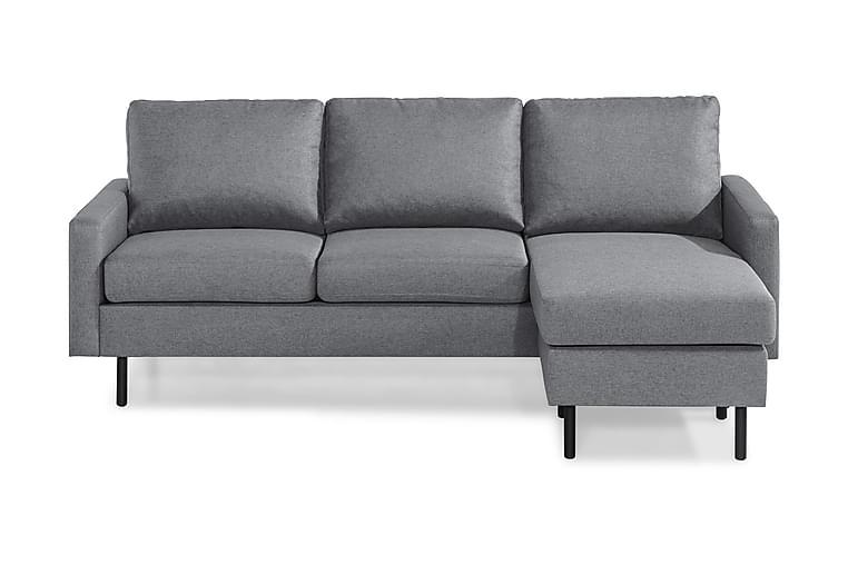 Soffa Malley 3-sits med Divan Vändbar - Ljusgrå - Möbler - Soffor - Divansoffor & U-soffor