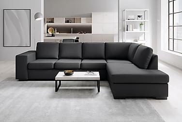 Soffa Sit Down 3-sits med Schäslong Höger Konstläder