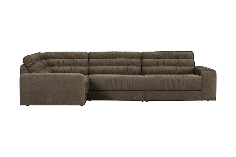 3-sits Hörnsoffa Leate Vänster - Varmgrå/Vintage - Möbler - Soffor - Hörnsoffor