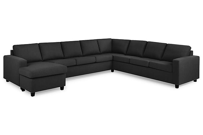 Hörnsoffa Nevada XXL med Divan Vänster - Antracit - Möbler - Soffor - Hörnsoffor