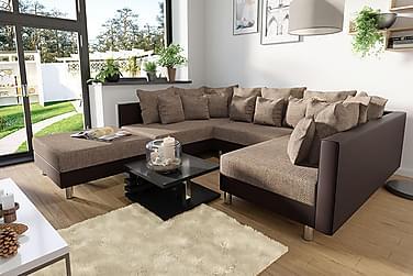 U-soffa & puff Claudia