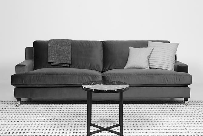 Sammetssoffa Prestar 4-sits - Mörkgrå - Möbler - Soffor - Howardsoffor