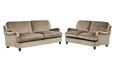Soffgrupp Oxford Deluxe 3-sits+2-sits Sammet