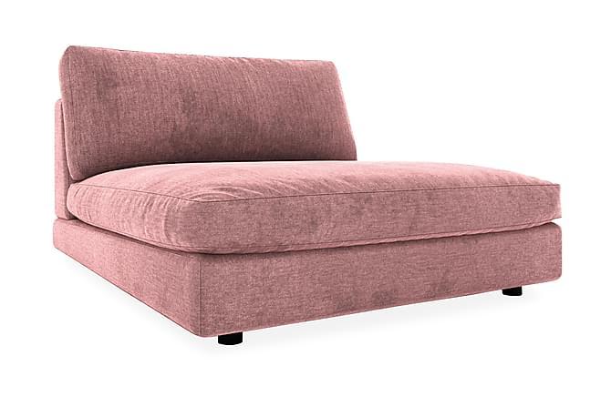 Mittmodul Aspen 120 cm Sammet - Rosa - Möbler - Soffor - Modulsoffor