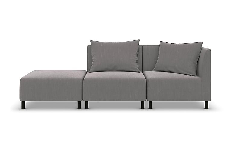 Modulsoffa Darlene 2,5-sits med Fotpall - Linnegrå - Möbler - Soffor - Modulsoffor