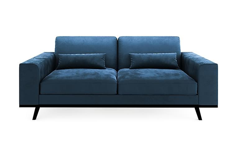 2-sits Sammetssoffa Haga - Blå - Möbler - Soffor - 2-4-sits soffor
