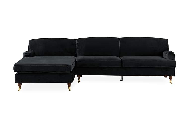 Divansoffa Segerbo Vänster - Svart - Möbler - Soffor - Howardsoffor