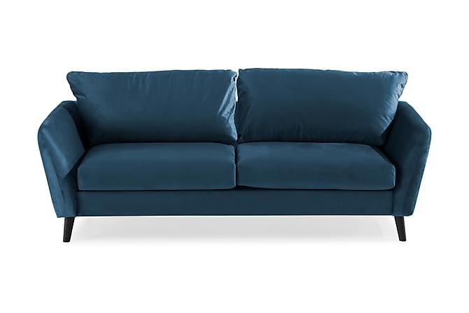 Sammetssoffa Colt 3-sits - Midnattsblå - Möbler - Soffor - 2-4-sits-soffor