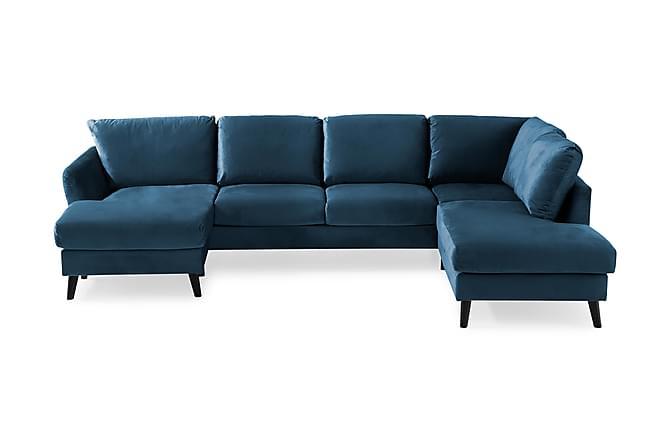 U-soffa Colt med Divan Vänster Sammet - Midnattsblå - Möbler - Soffor - Sammetssoffor