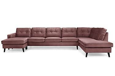 U-soffa Miller Large med Divan Vänster Sammet
