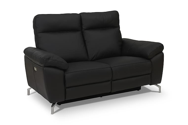 Reclinersoffa Ciela 2-sits Läder/PVC - Svart|Silver - Möbler - Soffor - Skinnsoffor