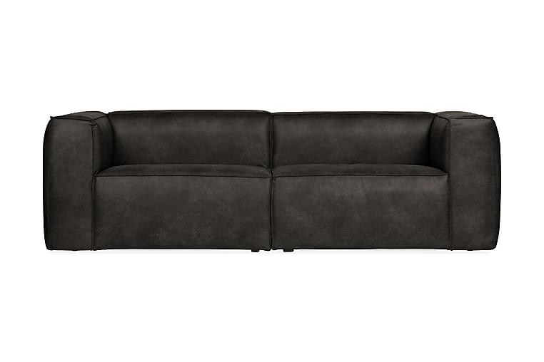 Soffa Cheshunt 3,5-sits - Svart - Möbler - Soffor - Skinnsoffor