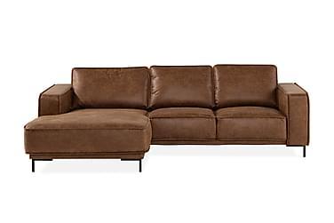 Soffa Minou 2-sits med Divan Vänster Bonded Leather