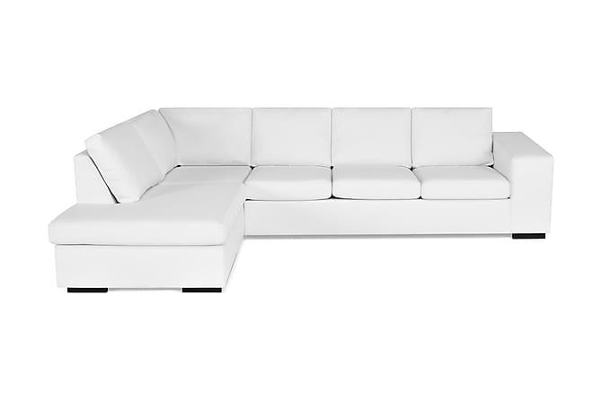Soffa Sit Down med Schäslong Large Vänster Konstläder - Vit - Möbler - Soffor - Divansoffor & U-soffor