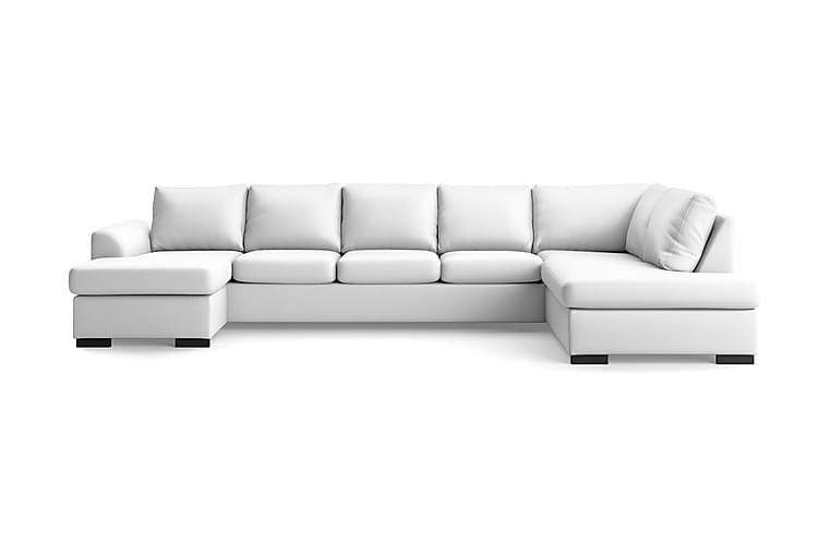 U-soffa Ohio Large med Divan Vänster Konstläder - Vit - Möbler - Soffor - Skinnsoffor