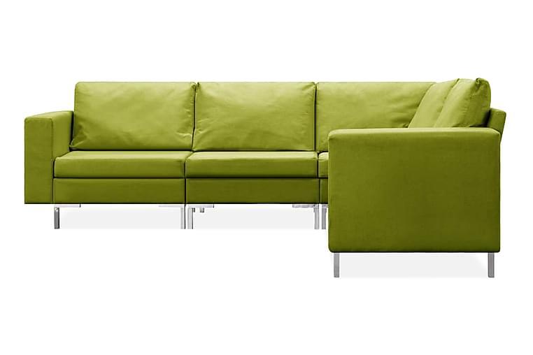 Soffgrupp 5 delar tyg grön - Grön - Möbler - Soffor - Soffgrupp