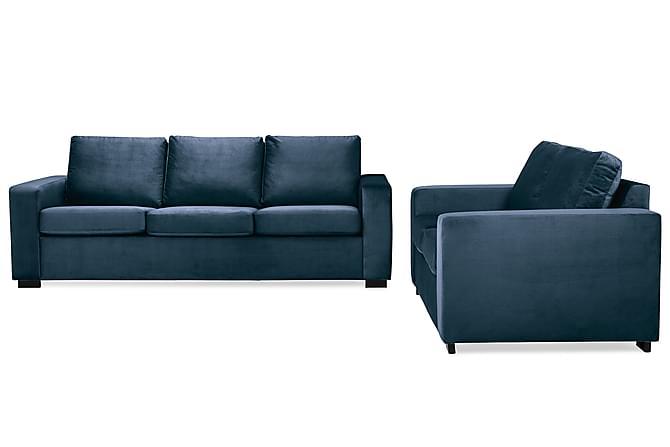 Soffgrupp Nevada 3-sits+2-sits - Midnattsblå Sammet - Möbler - Soffor - Soffgrupp