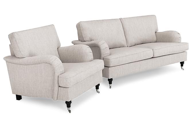 Soffgrupp Oxford Classic 3-sits+Fåtölj - Beige - Möbler - Soffor - Howardsoffor