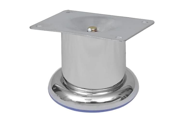 Runda soffben i krom 4 st 60 mm - Silver - Möbler - Soffor - Sofftillbehör
