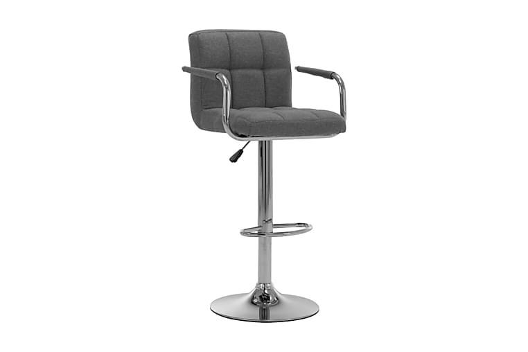Barstol ljusgrå tyg - Grå - Möbler - Stolar - Barstolar