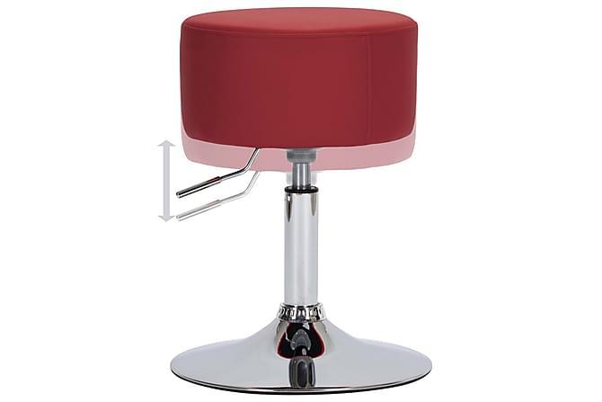 Barstol vinröd konstläder - Vinröd - Möbler - Stolar - Barstolar