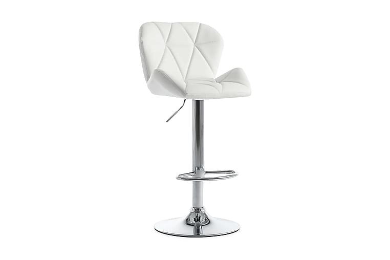 Barstol vit konstläder - Vit - Möbler - Stolar - Barstolar