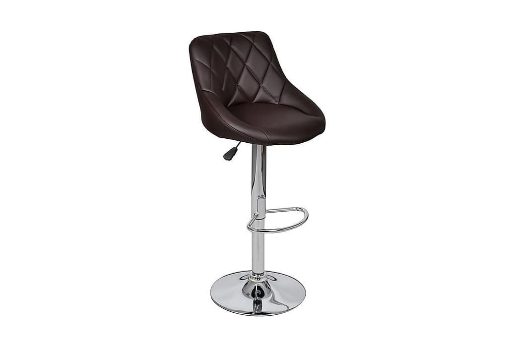 Barstolar 2 st brun konstläder - Brun - Möbler - Stolar - Barstolar