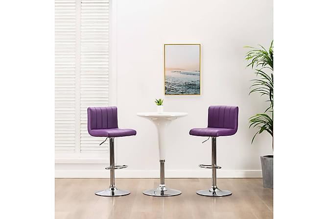 Barstolar 2 st lila konstläder - Lila - Möbler - Stolar - Barstolar