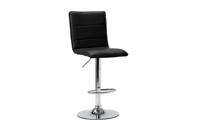 Barstolar 2 st svart konstläder - Svart - Möbler - Stolar - Barstolar