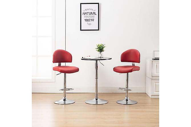 Barstolar 2 st vinröd konstläder - Röd - Möbler - Stolar - Barstolar