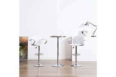Barstolar med armstöd 2 st konstläder vit