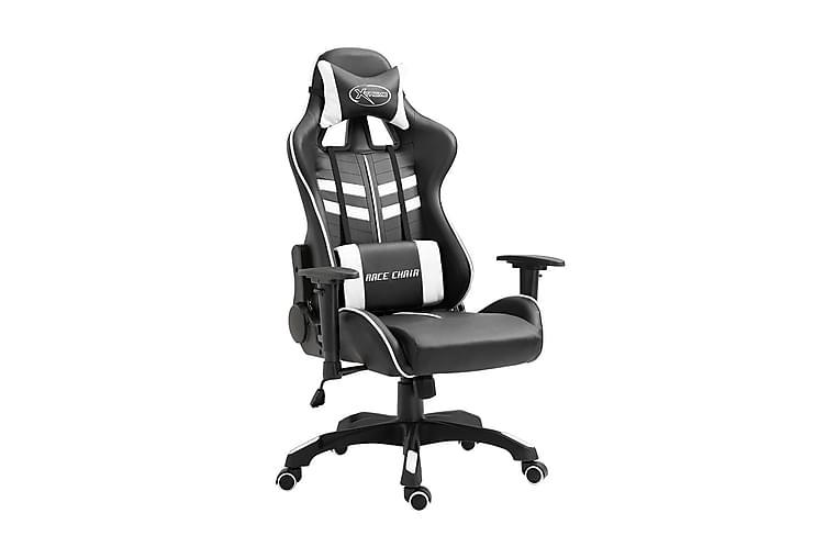 Gamingstol vit konstläder - Vit - Möbler - Stolar - Kontorsstol & skrivbordsstolar